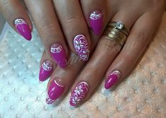 Bright summer nails, Evening dress nails, Festive nails, flower nail art, Flower nails ideas, French reverse nails design, Medium nails, Nails trends 2016