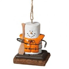 Spice up your Christmas Tree this holiday season by adding this S'more Canoeing Ornament! https://www.christmas2remember.com/s-mores-canoeing-ornament.html