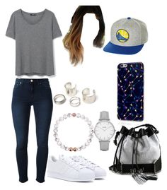 """""""NBA Finals: Golden State Warriors outfit (1-3)"""" by paula896 ❤ liked on Polyvore featuring Mitchell & Ness, Acne Studios, adidas Originals, MANGO, Carianne Moore and Topshop"""