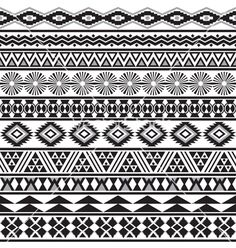 Illustration of Tribal striped seamless pattern Geometric black-white background Swatches of seamless pattern included in the file vector art, clipart and stock vectors. Image Tribal, Tribal Art, Tribal Prints, Tribal Images, Tribal Patterns, Print Patterns, Pattern Art, Pattern Design, Navajo Pattern