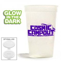 These super fun glow in the dark stadium cups are a great addition to your event.