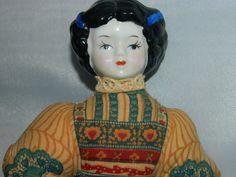 Vintage Avon American Heirloom Potpourri Doll Pin Cushion with Porcelain Head, Folk Art Doll, Circa 1980's Avon Heirloom Doll by TheIDconnection on Etsy