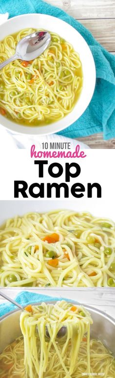 10 minute Homemade Top Ramen soup recipe - I had no idea it was this EASY to make! I couldn't stop eating it......