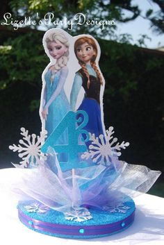 Elsa and Anna party table centre piece