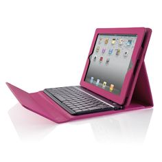 Bluetooth Keyboard Case for iPad from Brookstone. Yep I need this for meetings.