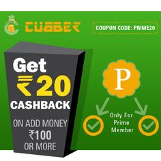 Cubber Prime Member Offer Use Coupon Code: PRIME20 Now Running Cubber Prime Member Offer for Life Time Earning Opportunity. Offer Valid Only For Two Days Till 18 Jun 2017, Do this and get cash back benefit from Cubber Prime Member Offer You can get 20 Rupees Cash back on Recharge of 100 Rupees or more or by adding Rs.100 or more in your Cubber wallet  Call / WhatsApp: (+91) 99099 18080 Download, Install and Register the Cubber App Now! Download Cubber Android App…