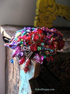 Rainbow Dance Bracelet Vintage Embroidery door AllThingsPretty
