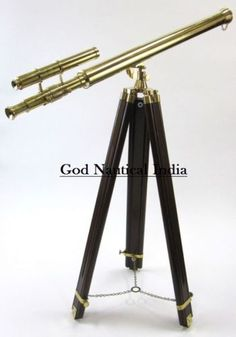 Maritime Sweet-Tempered Floor Standing Brass Telescope-leather Telescope Griffith Astro Telescope For Fast Shipping