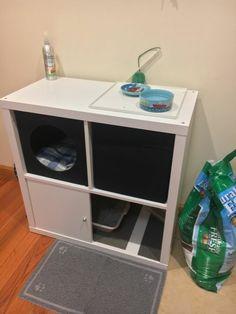 Weekend project: Make a Cozy Corner for your Cat Weekend project: Make a Cozy Corner for your Cat - IKEA Hackers Ikea Chat, Ikea Regal Expedit, Kallax Shelving, Cat Hacks, Cat Shelves, Pet Furniture, Furniture Vintage, Office Furniture, Furniture Design