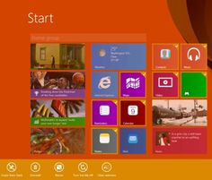 Windows 8.1 Start screen options