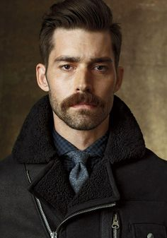 Love the contrast between abundant moustache and scruff