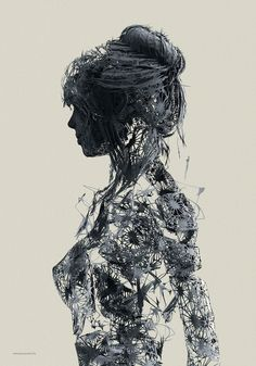 Art génératif et corps humain, par Janusz Jurek Illustration Girl, Digital Illustration, Art Génératif, Art Vintage, Generative Art, Human Art, Our Lady, Sculpture Art, Amazing Art