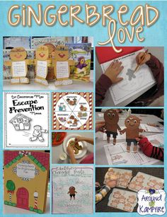 Oodles of reading, writing, math, centers and crafts in this multi-book study of The Gingerbread Man!