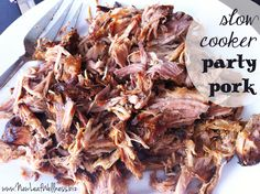 Slow Cooker Party Pork Recipe from @kellymcnelis