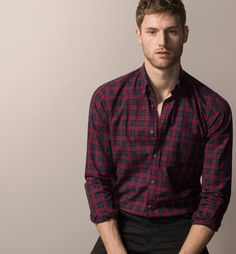 RED AND NAVY CHECK SHIRT