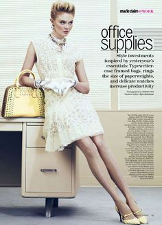 The 'Office Supplies' Marie Claire US editorial is featured in the mag's May 2012 issue
