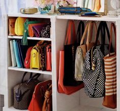 12 Small-Space Tips for the Purse-Obsessed Gal   Brit + Co