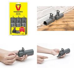 3-Pk Victor Clean Kill Mice Rats Mouse Tunnel Trap Bait Control Indoor Outdoor #Victor