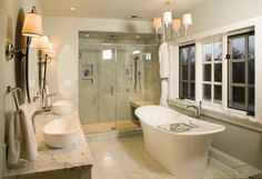 The 36th Sewickley House Tour   19th century cottage home   Pittsburgh   Housetrends   Master Bath LOVE IT!