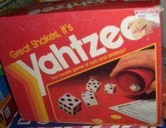 BOARD GAME : Yahtzee vintage 1982