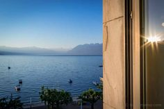 Having heard quite a bit about hotel Château d'Ouchy over the years, I'd always wanted to spend a night as a princess in that castle by Lake Geneva. Lausanne, Design Hotel, Lake Geneva, Power Boats, Switzerland, Castle, Europe, Sunset, Night