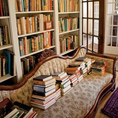 "May I always be surrounded by walls of books. ""A room without books is like a body without a soul"" ~ Cicero"