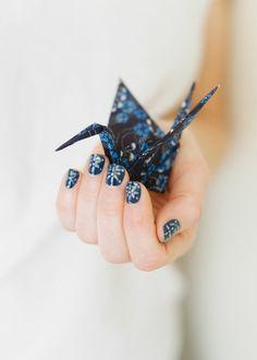 Japanese indigo nail art #tutorial #ubykotex #nailart