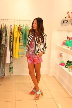 Aimee Song, style blogger at Song of Style, models Nanette's favorite summer prints