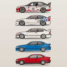 Stack Of Bmw 3 Series E36 Coupes Poster by Monkey Crisis On Mars – #BMW #Bimer #Bimmer #Beemer #M3, 328i, M3 Lightweight, M3 GTR, M3 GTS | Pixels.com