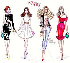 Hayden Williams Fashion Illustrations: 'Sex and the City' by Hayden Williams