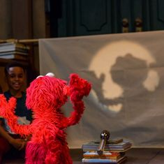 """Elmo on Instagram: """"Elmo wasn't too good at making shadow puppets, so Elmo made a GIANT ELMO instead!"""""""