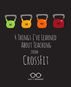 4 Things I've Learned About Teaching from Crossfit - For the first time, I understand what it feels like to be a struggling student. But because of the way CrossFit is structured, I keep trying. And I have no plans to stop.