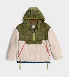 Sherpa Sweater, Outdoor Fashion, Half Zip Pullover, Green Sweater, Sport Casual, Adidas Jacket, Uggs, Hooded Jacket, Knitwear