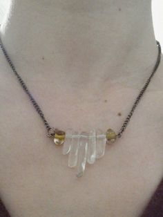 Copper And Quartz Necklace Hippie Boho Fashion by waterandairusa, $20.00