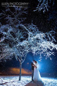 26 photos sublimes qui vous convaincront de vous marier en hiver (PHOTOS)