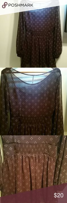 Free People Burgundy Dress Great Free People burgundy dress. Side zip. Elastic in waist. Blousy sleeves. Beautiful design. Dress is very flowy and feminine.   Original Owner.  Pride of Ownership.  Great Quality Items.  Items in Good Condition.  Low Prices.  Fast Shipping.  No Trades.  Great deals please no lowballs.  Will consider bundle discounts. Free People Dresses