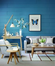 as seen in Ideal Home magazine May 2011. Wall colour is Bamiyan Blue from Fired Earth    Like this blue