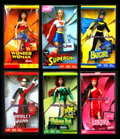 All the SUPER Barbies! YAY!