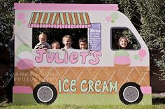 Ice Cream Truck Foto Booth from Country Cottage Needleworks.