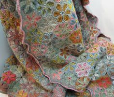 Sophie Digard of Paris, hand crocheted merino wool or linen heirloom quality scarves and shawls