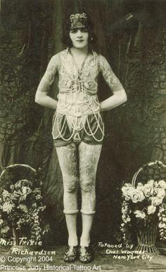 Vintage circus freakshow on pinterest freak show for Tattoo freak costume