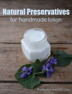 Natural Preservatives for homemade lotion. Have you ever felt confused and conflicted when you looked up information on preserving homemade lotions and creams? I want my products to be as wholesome and natural as possible, but also don Beauty Care, Diy Beauty, Beauty Hacks, Beauty Skin, Beauty Guide, Face Beauty, Diy Cosmetic, Diy Savon, Diy Lotion