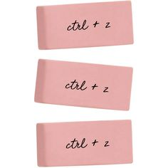 Pobody's Nerfect Set of 3 Erasers Classic Pink Erasers Funny Erasers... ($6) ❤ liked on Polyvore featuring home, home decor, office accessories, home & living, light pink, office, office & school supplies, pink eraser, pink office supplies and pink office accessories