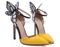 Barato Europa e nos estados unidos Sophia vampire diaries borboleta asas de couro de patente mulheres com sapatos pontudos 2 tamanho grande 40, Compro Qualidade Bombas diretamente de fornecedores da China:  ? ? ? ? ? remessa ? ? ? ? 1. Pre?o competitivo, o mais que você , menor pre?o que você terá. ? ? Nós combinamos o trans