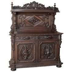 19th Century Grand French Hunt Vaisselier/Sideboard | From a unique collection of antique and modern buffets at https://www.1stdibs.com/furniture/storage-case-pieces/buffets/