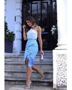 Skirt Outfits, Stylish Outfits, Blouse Styles, Dress Styles, Office Outfits, Look Fashion, Fashion Women, Casual Chic, Spring Outfits