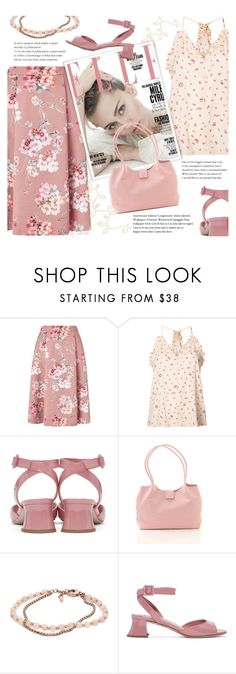"""""""Color Me Pretty: Head-to-Toe Pink"""" by xiandrina ❤ liked on Polyvore featuring Miss Selfridge, Rebecca Taylor, FOSSIL, Miu Miu and monochromepink"""