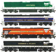 Norfolk Southern Heritage Units... Southern Railway Roads.