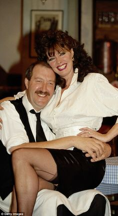 Family members reveal 'Allo 'Allo star Gorden Kaye died after a heartbreaking 'battle with dementia' Vicki Michelle, British Comedy Series, Celebrities In Stockings, Star Of The Day, Prettiest Actresses, Marilyn Monroe Photos, Stockings And Suspenders, Comedy Tv, Old Tv Shows