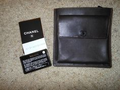 CHANEL Chocolate Brown Leather Waist Belt Bag Purse Belt not included WOW #chanelwaistbag #chanel #authentic #kansasconsign #ebay #beltbag #waistbag